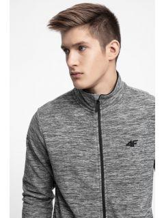 Bluza din fleece pentru bărbați PLM304 - gri înspicat mediu