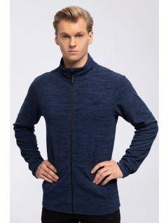 Bluza din fleece pentru bărbați PLM304 - bleumarin melanj