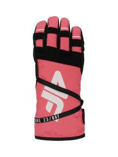 Mănuși de schi pentru femei RED253 - somon roz neon