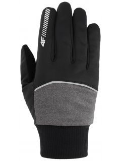 Mănuși softshell unisex REU104 - gri mediu
