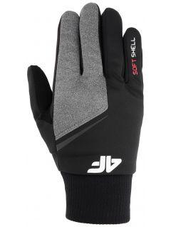 Mănuși softshell unisex REU107 - negru profund