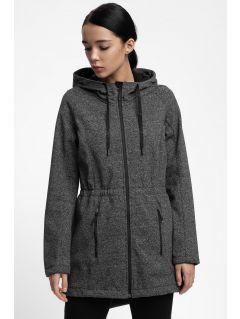 Jacheta softshell pentru femei SFD200B - gri închis melanj