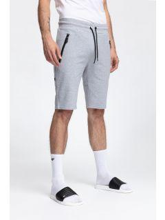 Pantaloni scurți de molton pentru bărbați SKMD200 - gri înspicat lumină