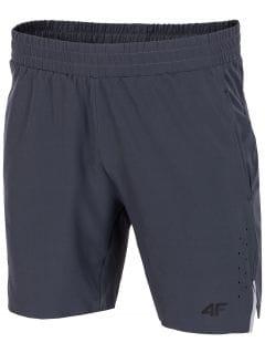 Pantaloni scurți de antrenament pentru bărbați SKMF151 - gri închis