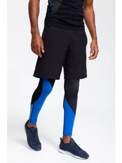 Pantaloni scurți de antrenament pentru bărbați SKMF202 - negru profund