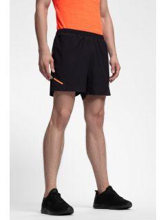 Pantaloni scurți de antrenament pentru bărbați SKMF253 - negru profund