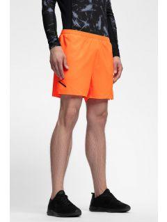 Pantaloni scurți de antrenament pentru bărbați SKMF253 - portocaliu neon