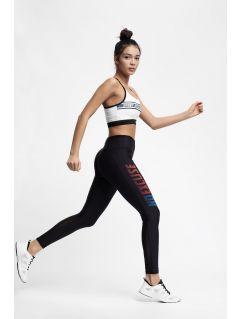 Colanți de alergare pentru femei SPDF152 - negru profund