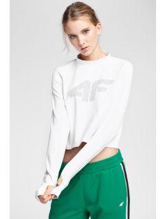 Tricou cu mânecă lungă pentru femei TSDL221 - alb
