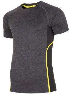 Tricou de antrenament pentru bărbați TSMF153 - gri închis melanj