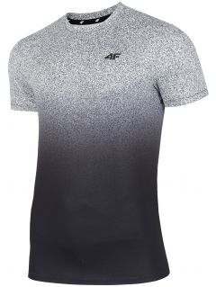 Tricou de antrenament pentru bărbați TSMF208 - gri mediu allover