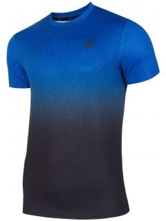 Tricou de antrenament pentru bărbați TSMF208 - cobalt allover