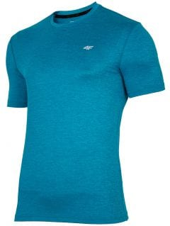 Tricou de antrenament pentru bărbați TSMF301 - verde marin melanj