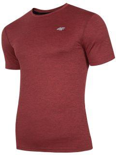 Tricou de antrenament pentru bărbați TSMF301 - roșu melanj