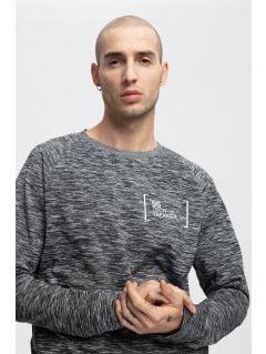 Tricou cu mânecă lungă pentru bărbați TSML263 - gri melanj
