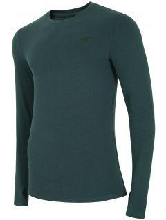 Tricou cu mânecă lungă pentru bărbați TSML300 - verde marin melanj