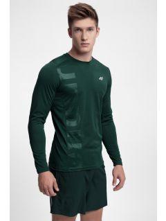 Tricou de antrenament cu mânecă lungă pentru barbați TSMLF251 - verde închis