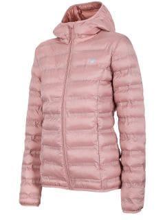 Jachetă din puf pentru femei KUD002 - roz deschis melanj