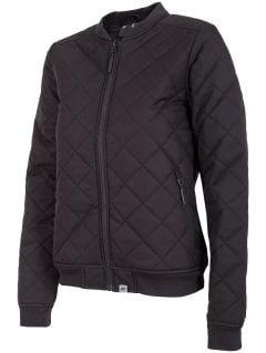 Jachetă din puf pentru femei KUD005 - negru intens