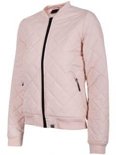 Jachetă din puf pentru femei KUD005 - roz deschis