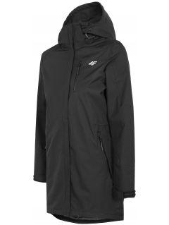 Jachetă de oraș pentru femei KUDT004 - negru intens
