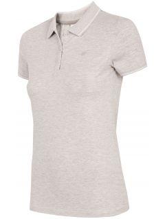 Tricou polo pentru femei TSD013 - gri rece deschis melanj