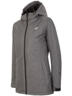 Jachetă de schi pentru femei KUDN002 - gri închis melanj