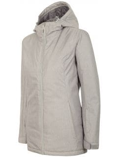 Jachetă de schi pentru femei KUDN002 - gri înspicat lumină melanj