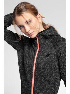 Bluză din fleece pentru femei PLD002 - negru profund melanj