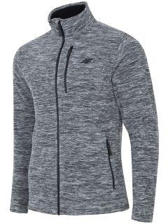 Bluza din fleece pentru barbați PLM001 - gri închis melanj