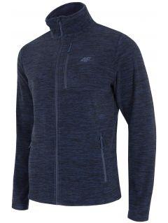 Bluza din fleece pentru barbați PLM001 - bleumarin închis melanj