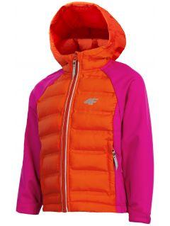Jachetă softshell pentru fete (98-116) JSFD300 - fuxie