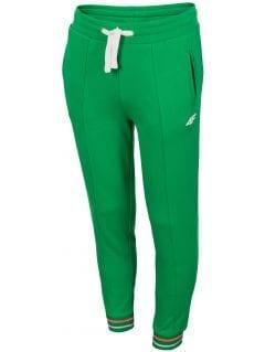 Pantaloni de molton pentru fete (122-164) JSPDD200 - verde