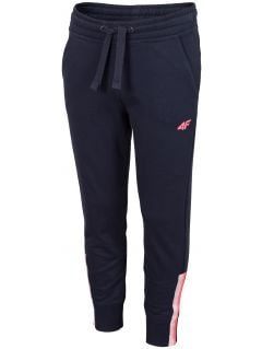 Pantaloni de molton pentru fete (122-164) JSPDD201 - bleumarin