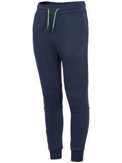 Pantaloni de molton pentru băieți (122-164) JSPMD200 - bleumarin
