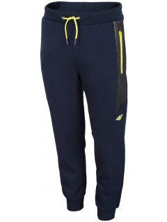Pantaloni de molton pentru băieți (122-164) JSPMD201 - bleumarin