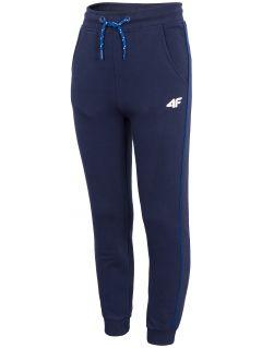 Pantaloni de molton pentru băieți (122-164) JSPMD207 - bleumarin