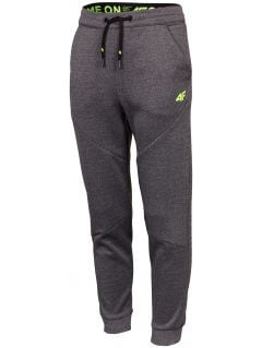 Pantaloni funcționali pentru băieți (122-128) JSPMTR401 - gri melanj