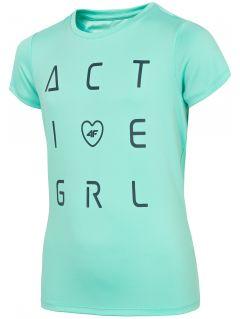 Tricou de sport pentru fete (122-164) JTSD400A - mentă