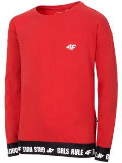 Tricou cu mânecă lungă pentru fete (122-164) JTSDL203 - roșu