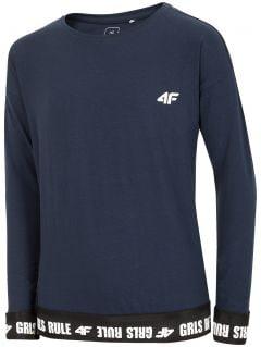 Tricou cu mânecă lungă pentru fete (122-164) JTSDL204 - bleumarin închis