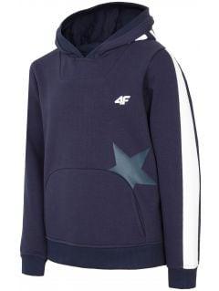 Bluza pentru copii mari (fete) JBLD212 - bleumarin închis