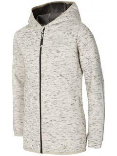 Bluza pentru copii mari (fete) JBLD400 - melanj gri deschis