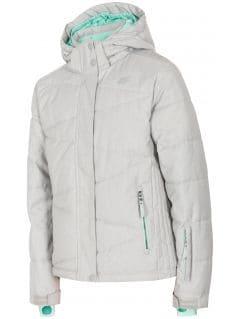 Jacheta de schi pentru copii mari (fete) JKUDN400 - gri melanj