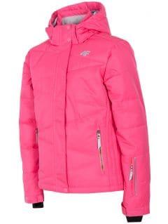 Jacheta de schi pentru copii mari (fete) JKUDN400 - fuxie