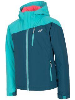 Jachetă de schi pentru copii mari (fete) JKUDN402 - verde marin