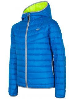 Jacheta cu puf pentru copii mari (băieți) JKUMP201 - cobalt