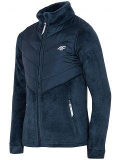 Bluza din fleece pentru copii mari (fete) JPLD200 - bleumarin
