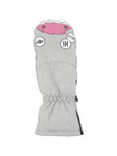 Mănuși de schi pentru copii mici (fete) JRED300 - gri înspicat lumină  melanj