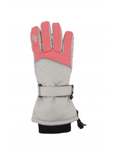 Mănuși de schi pentru copii mari (fete) JRED403 - coral neon